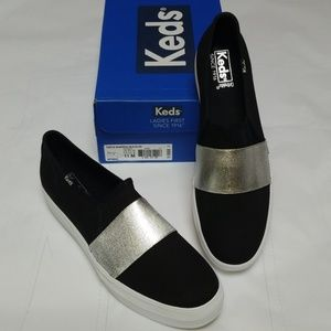 Triple Bandeau Black/Silver Women's Keds Sneakers